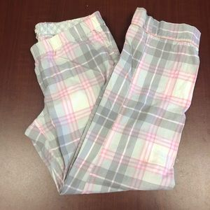 J. Crew Pajama Pants Pink Plaid Size Medium